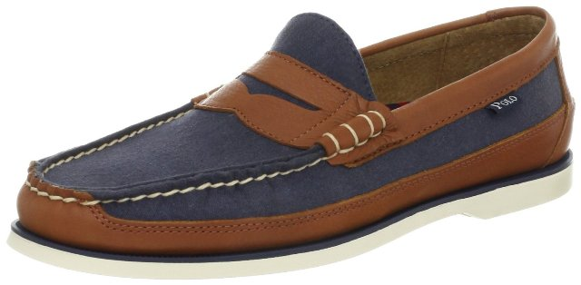 Boat Shoes For Men - Polo Ralph Lauren Mens Blackley Penny Canoe Loafer