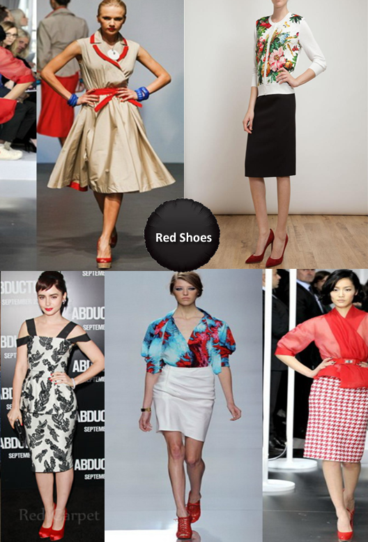 What To Wear With Red Shoes Women