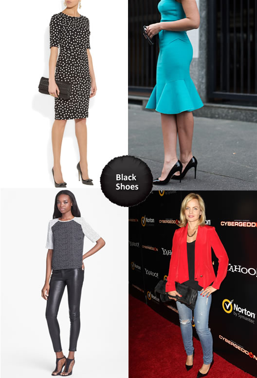 What to Wear with Black Shoes for Women