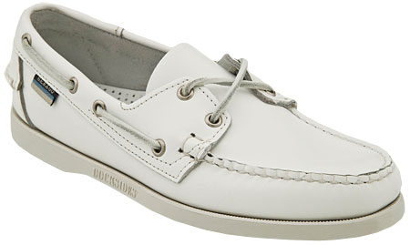 Sebago Men's Docksides Boat Shoe - White leather
