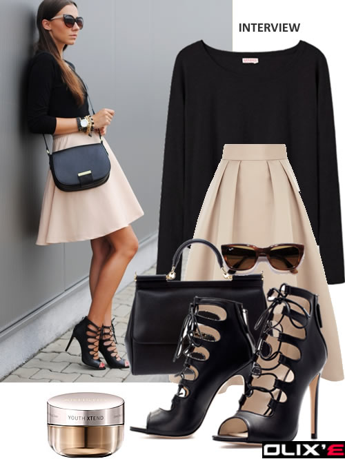 WEAR A HIGH WAIST SKIRT  TO AN INTERVIEW