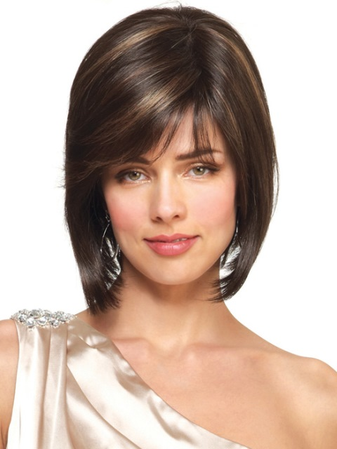 Black short hairstyles With color