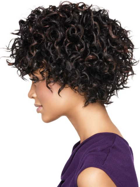 Black short hairstyles for curly hair