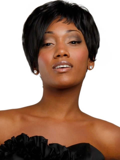 Black short hairstyles with layers