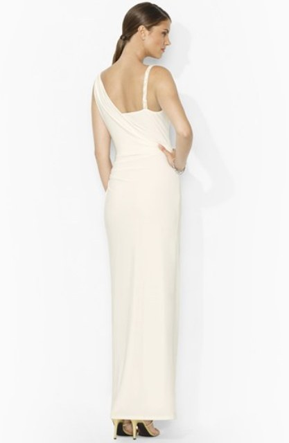 Braided Strap Jersey Gown - 2