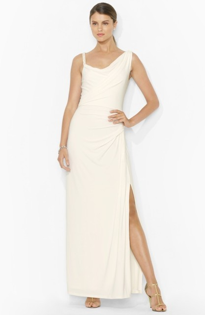 Braided Strap Jersey Gown