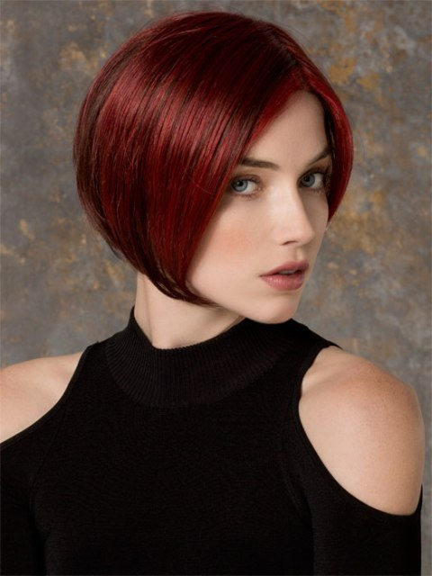 Colored Short haircuts for thick hair