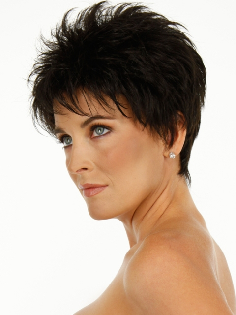 Midnight Brown Short Haircuts For Fine Hair