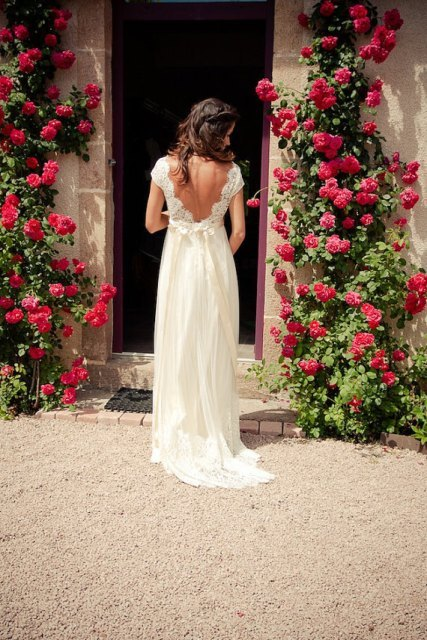 Open Low Back Wedding Dresses