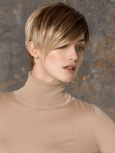 Short haircuts for thick hair With a Bang