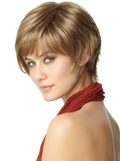 Short haircuts for thick hair for Round Faces