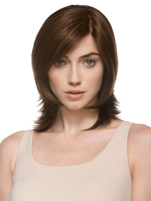 Short haircuts for thick hair for Square Face