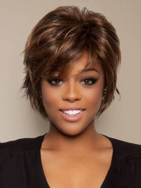 Short hairstyles for thick hair for african american