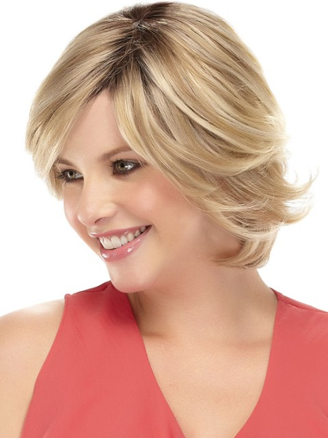 Short hairstyles for thick hair for blonde
