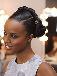 Updos for black women with fine hair