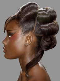 Updos for black women for wavy hair