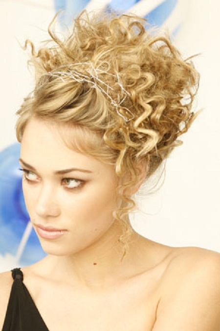 Updos for medium curly hair
