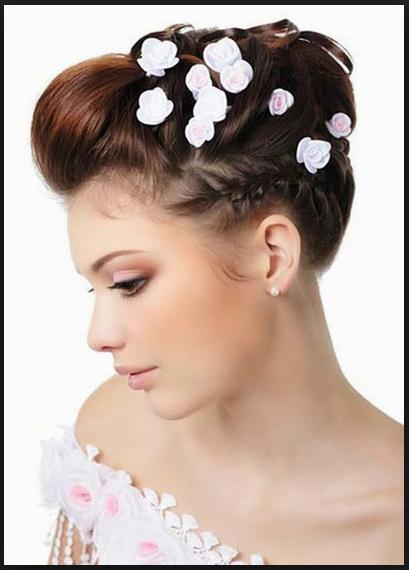 Updos for medium hair for wedding hair styles