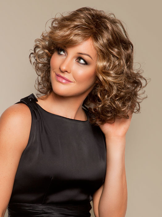 Curly Hairstyles For Women, for heart shape faces