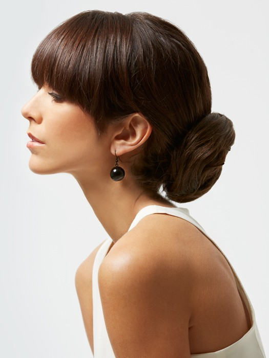 Cute Updo Hairstyles With Bangs