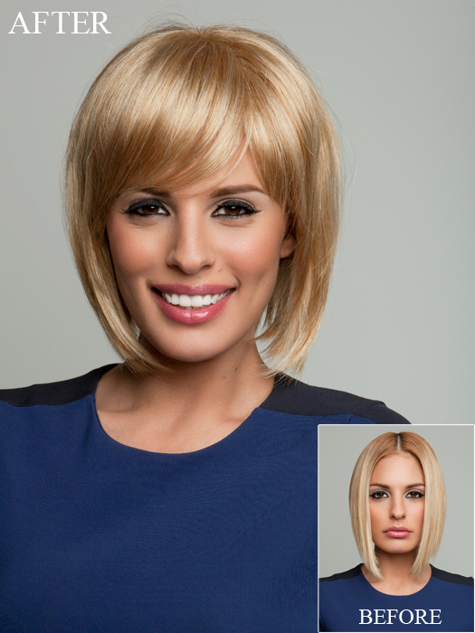 Short Hairstyles With Bangs, blonde hair