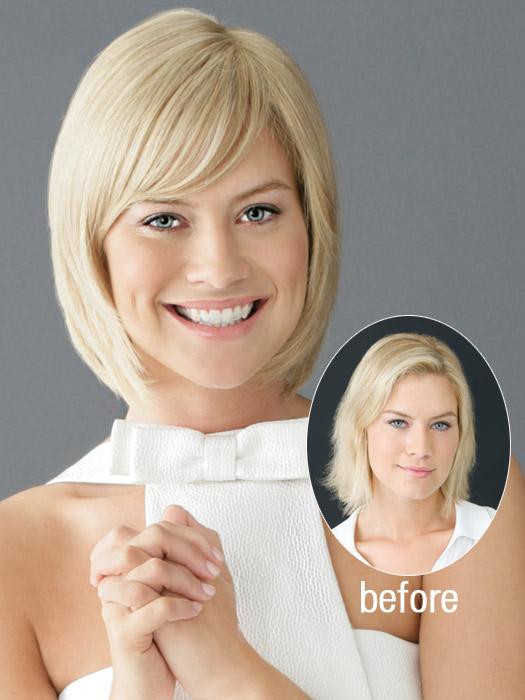 Short Hairstyles With Bangs, blonde hair