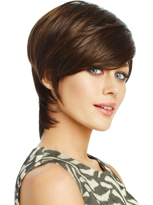 Short Hairstyles With Bangs, shag haircut