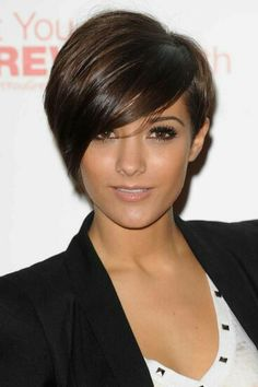 Girly Asymmetry - Short Hairstyles for Round Face