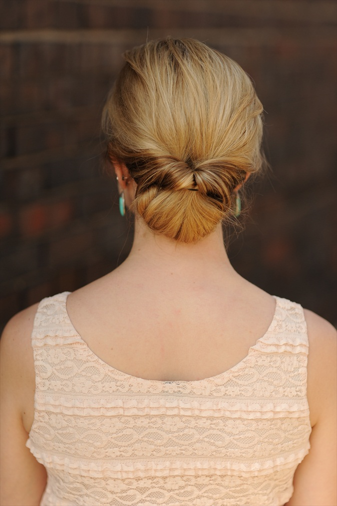 Twisted Chignon - Updos for Medium Length Hair