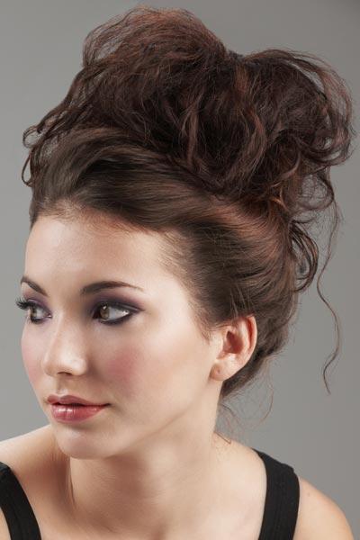 Enjoyable Messy Updos For Medium Hair With Bangs Short Hair Fashions Short Hairstyles For Black Women Fulllsitofus