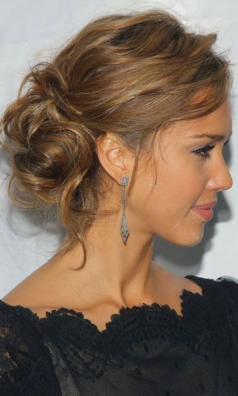 Romantic Bun - Updos for Medium Length Hair