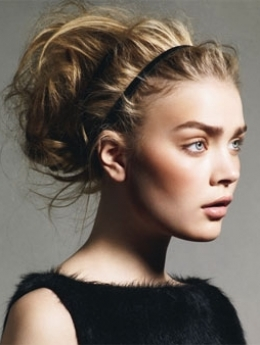 Easy updos for long hair for girls