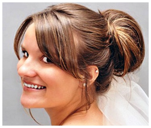Easy updos for long hair with bangs