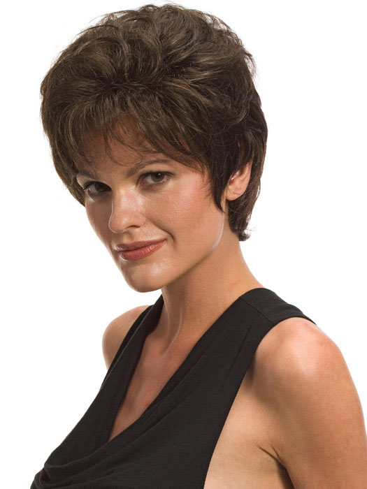 Short hairstyles for curly hair, women over 50