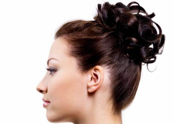 Simple updos for long hair, for brown hair