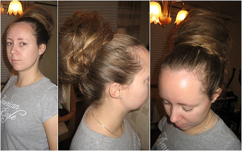 Smooth easy updos for long hair