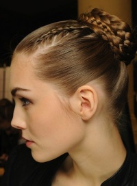 Smooth simple updos for long hair