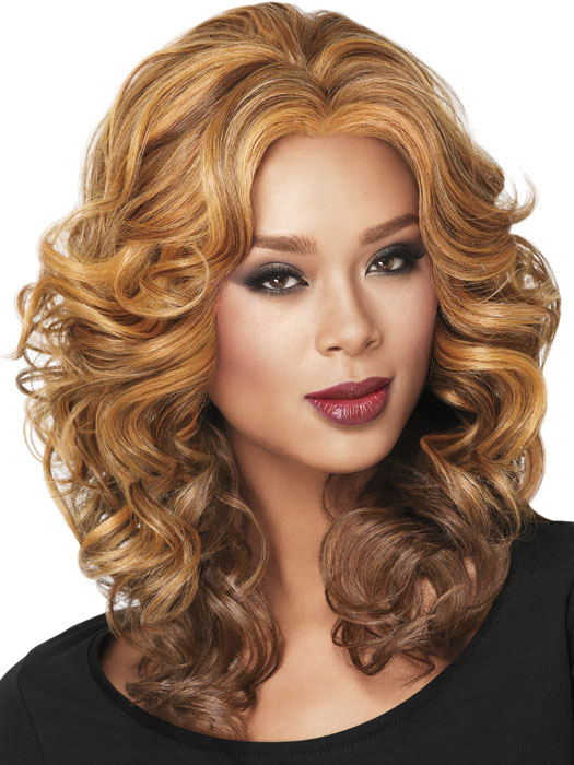 Casual Curl - Brown with Blonde Highlights on dark skin
