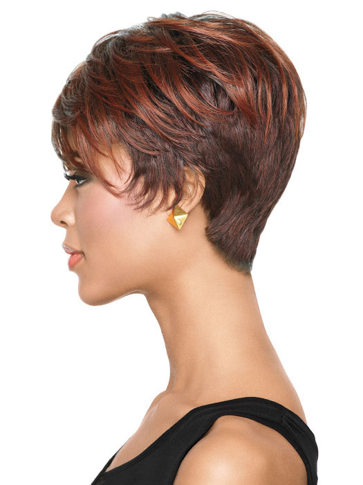 Tapered Tomboy - Red hair color on dark skin