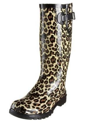 Womens Leopard print Rain Boots