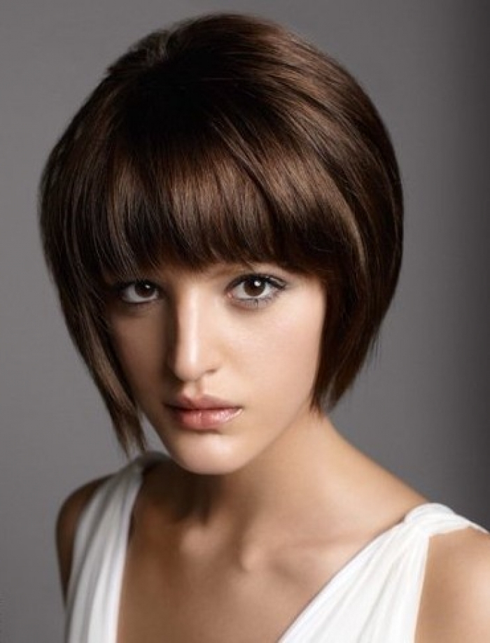 Short-Stacked-Bob-Hairstyles-with-Bangs