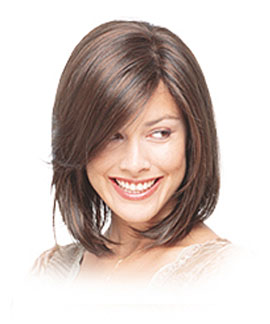 Sleek n Straight Curtains - Short hairstyles for oval faces