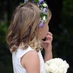 flowergirl floral headband