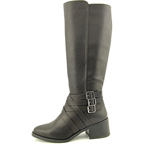 Mia Noralee Women Round Toe Leather Brown Knee High Boot